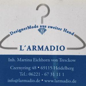 Logo der Dankstelle L'Armadio Designer Second Hand