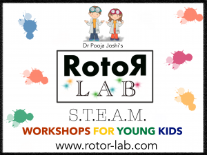 Logo der Dankstelle Rotor Lab – Workshops for Little Scientists