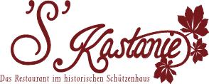 """Logo der Dankstelle Restaurant""""S""""Kastanie"""