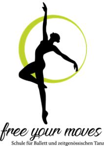 Logo der Dankstelle Schule für Ballett und zeitgenössischen Tanz – free your moves