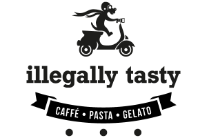 Logo der Dankstelle Cafe illegally tasty