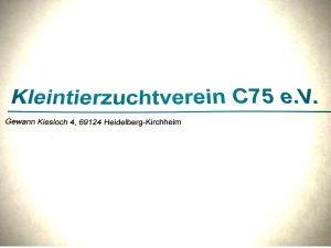 Logo der Dankstelle Kleintierzuchtverein C75 Kirchheim