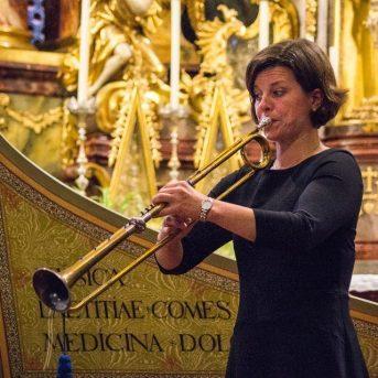 Bild der Dankstelle Trompeterin, Trompetenunterricht