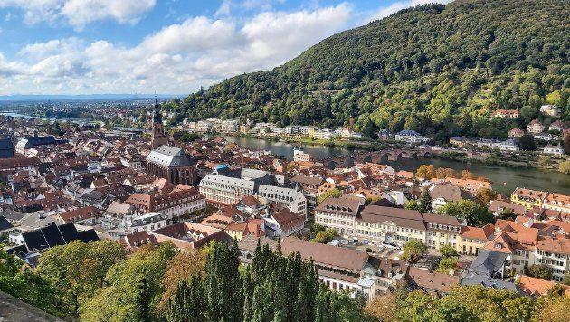 Blick über die Heidelberger Altstadt