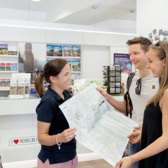 Bild der Dankstelle Tourist Information am Neckarmünzplatz